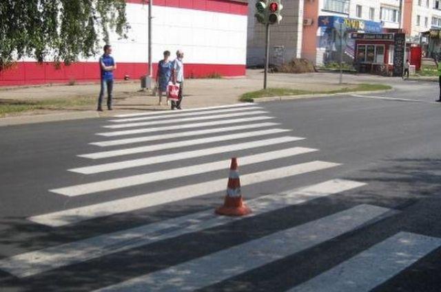 В Тобольске на улице Полонского водитель сбил пешехода