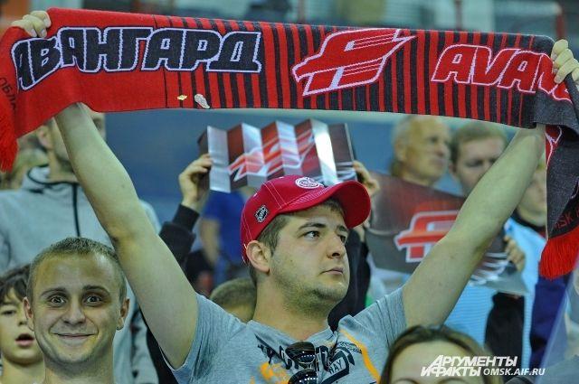 Омские болельщики всегда поддерживают свою команду.