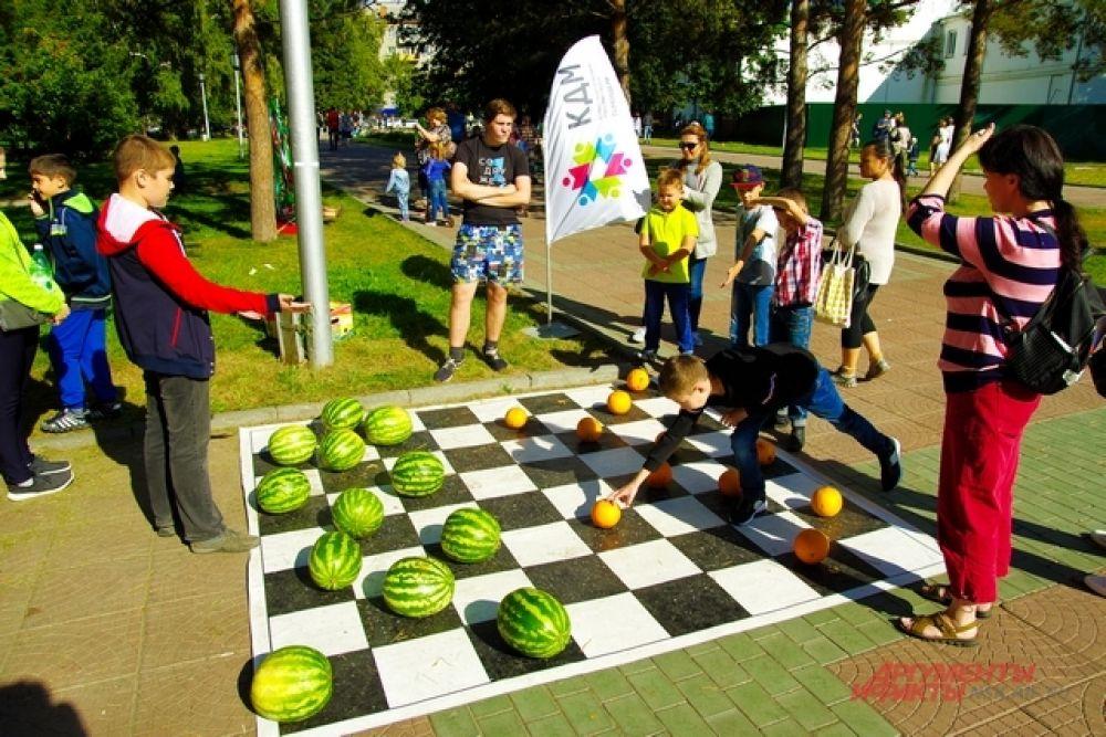 Огромные арбузно-дынные шашки стали хитом пикника