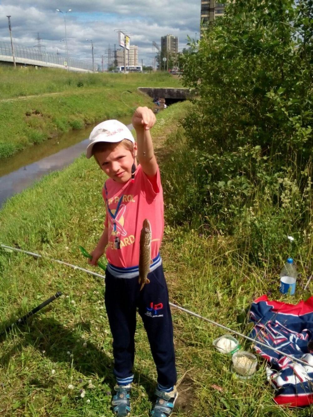 Поехал впервые с дедушкой на рыбалку и тут же выловил щуку! Вырасту – поймаю акулу.