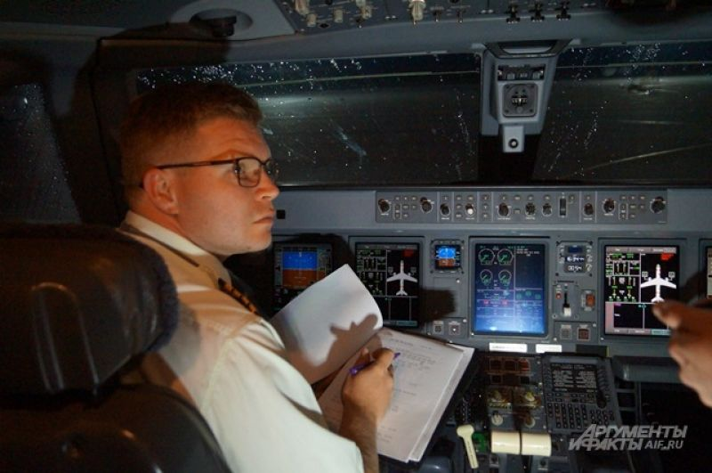 От пилотов в полете зависит многое.