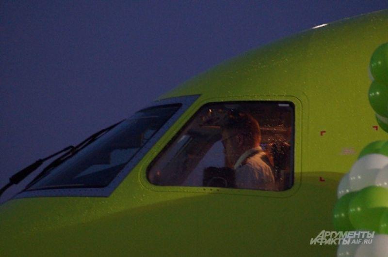 Кабина пилотов.