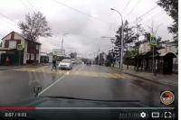 Авария произошла на пешеходном переходе в Иркутске.