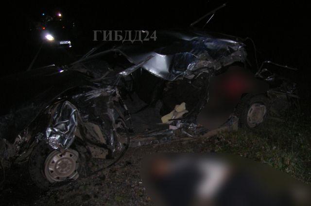 В результате аварии три человека погибли, два доставлены в больницу с травмами разной степени тяжести.