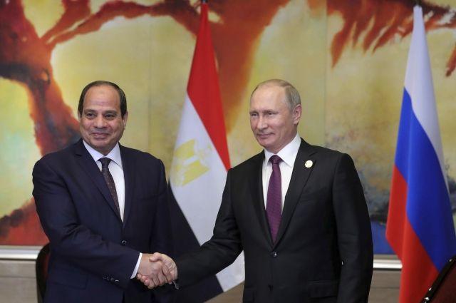 Президент Египта пригласил Владимира Путина всвою страну