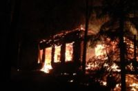 Из-за короткого замыкания в Тюмени сгорел одноэтажный частный дом цыган