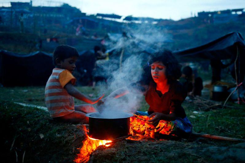 Лагерь беженцев в приграничном районе Бангладеш Кокс-Базар.