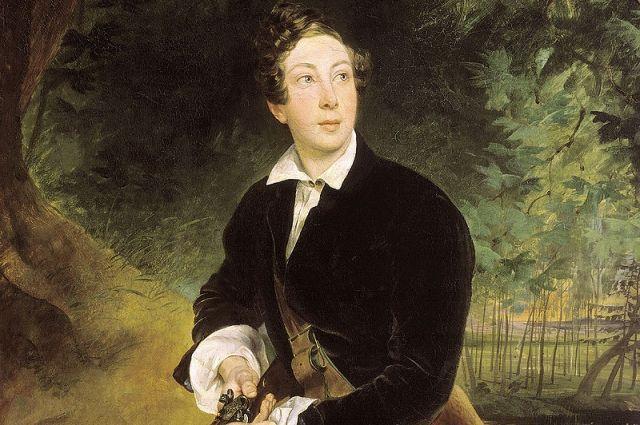 К. П. Брюллов. Портрет Алексея Толстого в юности (1836 год).