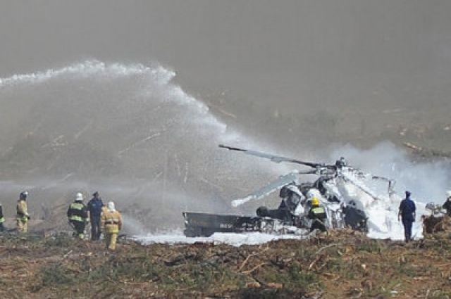 В неумелых руках вертолет завалился на бок и упал