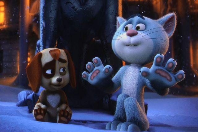 В новой экранизации вместе с Василием путешествует щенок Булька.