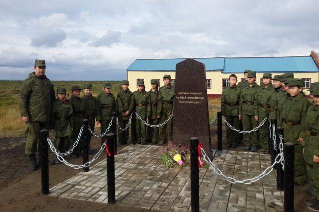 Памятник «Защитникам земли родной» в память о погибших таймырцах в годы Великой Отечественной войны.
