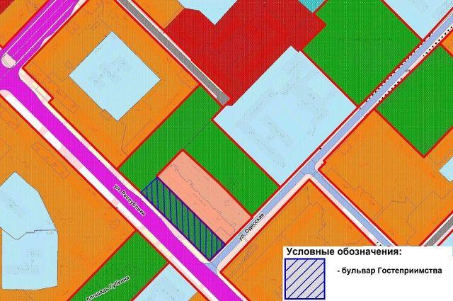Схема: в Тюмени появился бульвар Гостеприимства