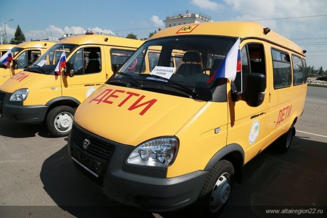 Такие автобусы в регионах перевозят детей в школу