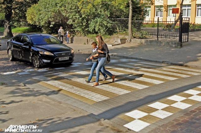 По вине пешеходов с начала года в Калининграде произошло 72 ДТП.