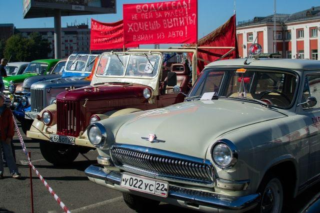 Выставка ретроавтомобилей в Барнауле