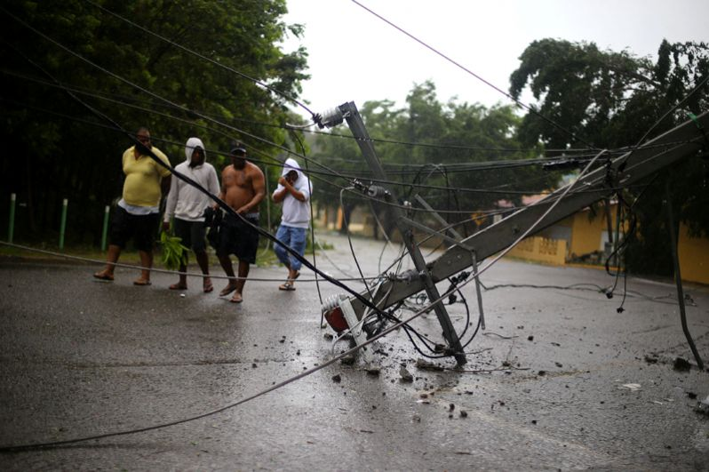 Последствия урагана в Доминиканской Республике.