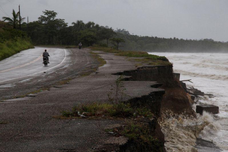 Ураган «Ирма» на северном побережье Доминиканской Республики.