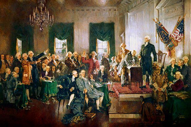 Говард Чандлер Кристи. Конституционный конвент в Филадельфии: подписание Конституции.