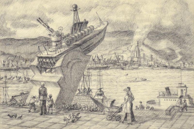 Памятник морякам. 1970-е.