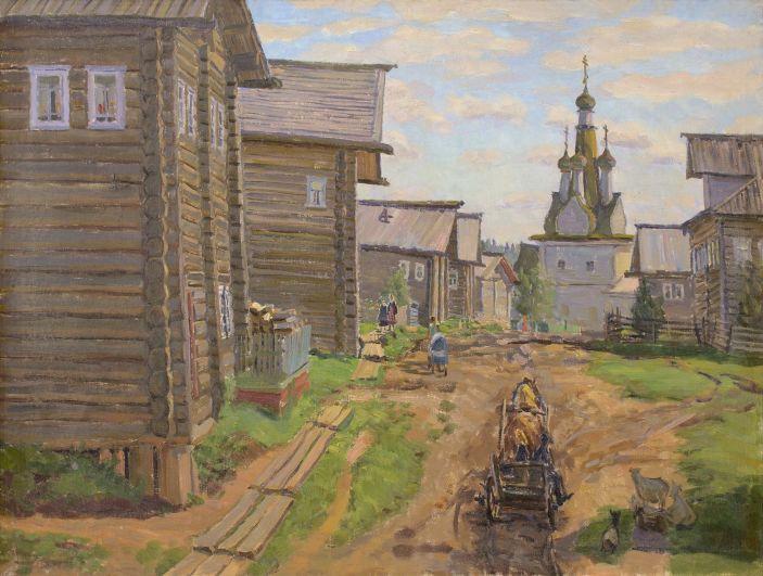 Улица в деревне Кимжа. 1973 год.