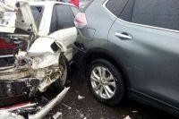В аварии пострадали сразу несколько автомобилей
