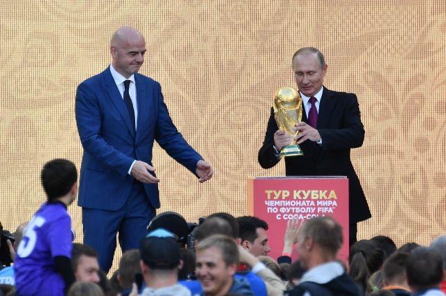 Путин дал старт туру КубкаЧМ пофутболу 2018 года