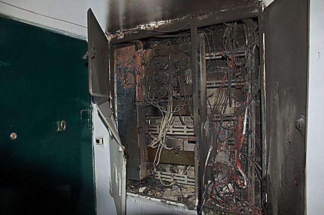 Электрощит был охвачен огнем