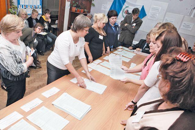 В Иркутской области идет подсчет голосов избирателей.