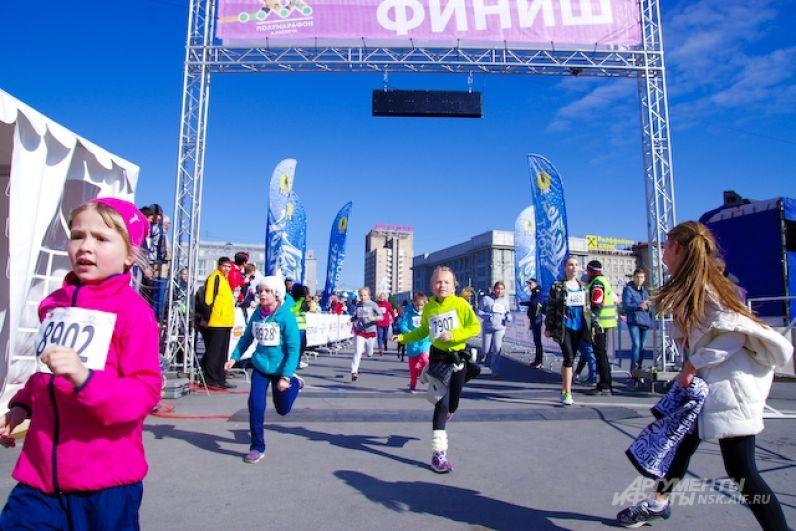 Они пробежали дистанцию 1500 метров.