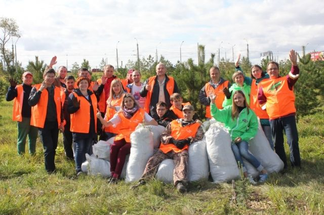 Общими усилиями сотрудники собрали 1100 кг макулатуры, которую накануне субботника обменяли на саженцы горной сосны.