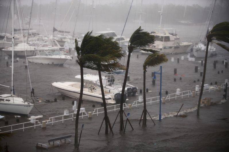Ураган «Ирма» на набережной Майами.