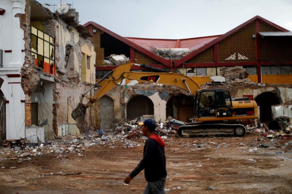Последствия землетрясение в городе Хучитан.