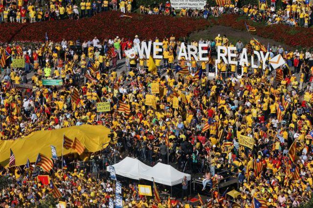 В Барселоне проходят демонстрации