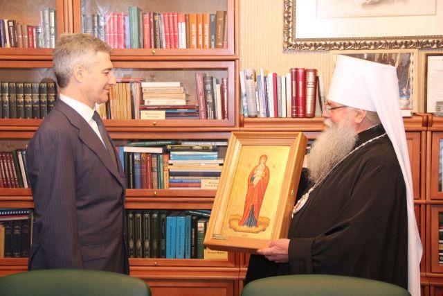 Артур Парфенчиков познакомился с карельским митрополитом в первые же дни своего прибытия на работу в республику