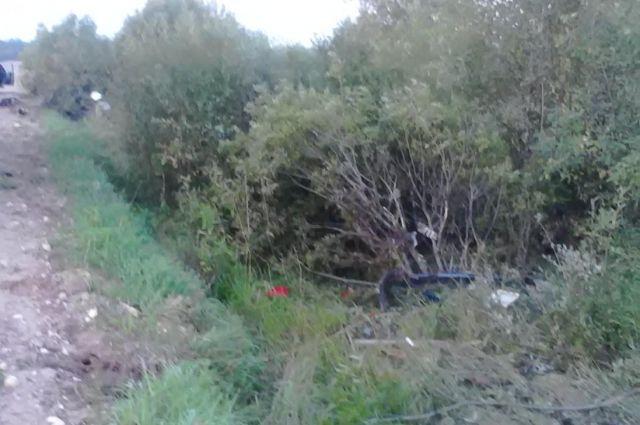 ДТП вТверской области: машина опрокинулась вкювет, шофёр умер