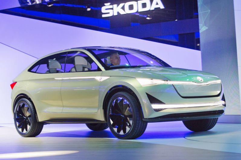 Skoda Vision E electric SUV.