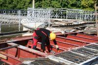 Ремонт моста Деревянный в Калининграде обещают закончить в ноябре.