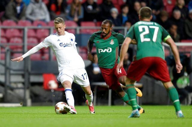 «Локомотив» сыграл вничью счемпионом Дании вЛиге Европы