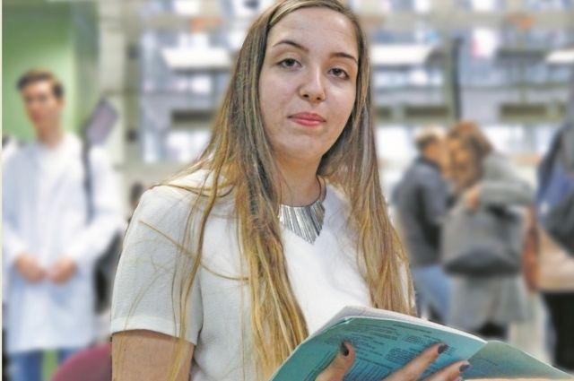 Дарья Дабуль на занятиях в Тверском государственном медицинском университете