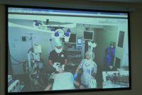 Наглядное применение метода нейромониторинга участники мастер-класса смогли увидеть в режиме видеоконференции.