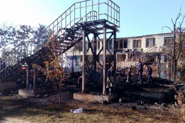 Пожар в детском лагере