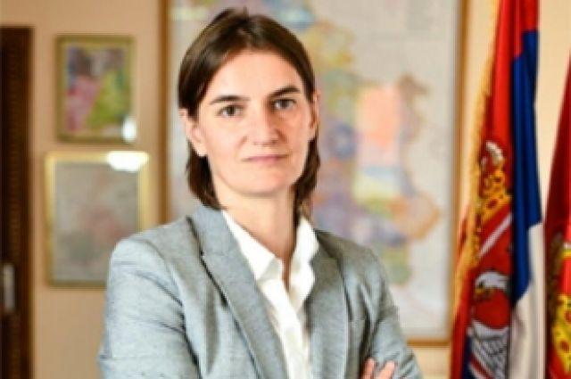 Премьер Сербии Ана Брнабич приняла участие вгей-параде вБелграде