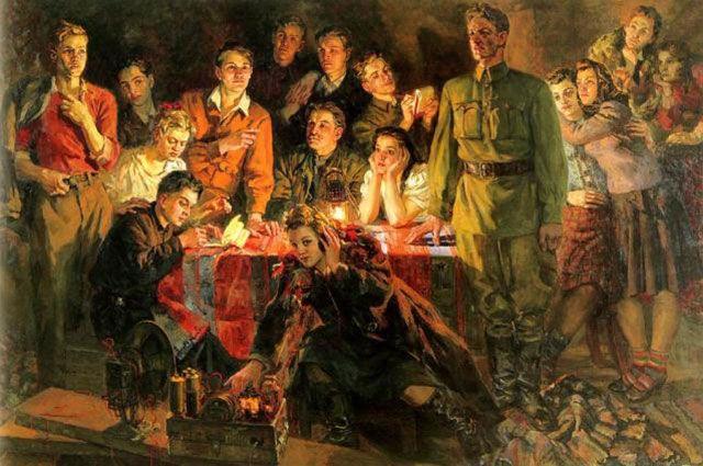 Картина «Краснодонцы». Соколов-Скаля П.П. 1948 г.
