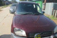 Автомобиль предполагаемого виновника аварии.
