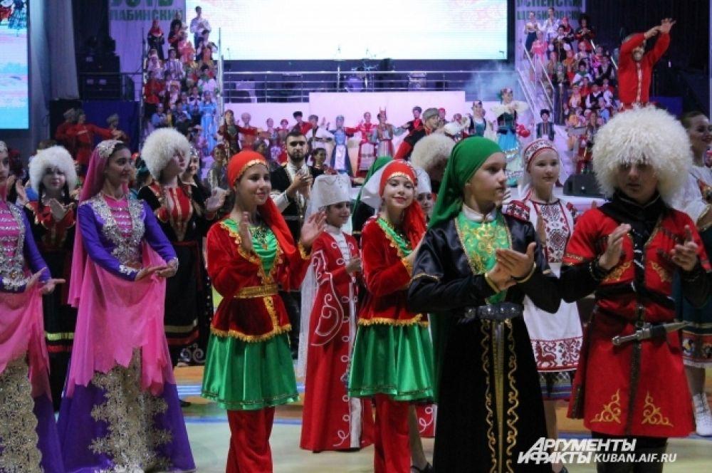 Кубань - многонациональный край, о чем и напомнили в ходе концерта.