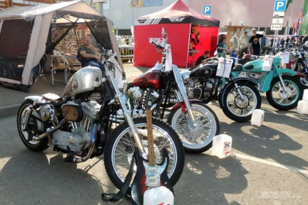 На ЮгМоторШоу были мотоциклы на любой вкус.