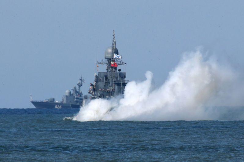 Выход кораблей Балтийского флота в море в рамках российско-белорусских стратегических учений «Запад-2017».