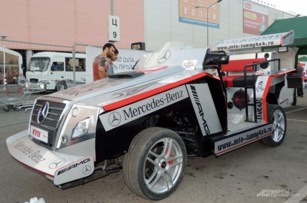Самодельный автомобиль «Волкодав», созданный на шасси дизельного бизнес-седана Mercedes-E.