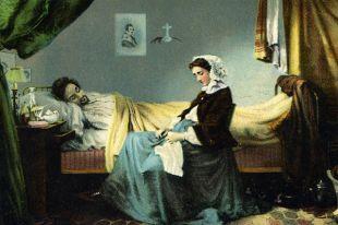 М.П. Клодт, «Больной музыкант» (фрагмент).