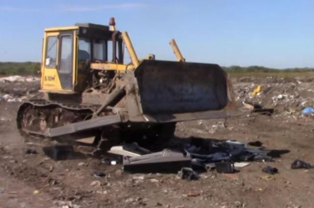 ВБузулуке оборудование подпольных казино раздавили трактором